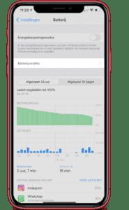 iphone batterij update
